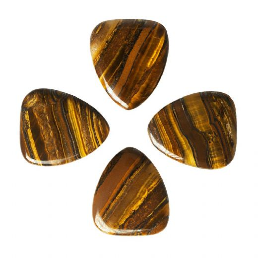 Tiger Tones Banded Tiger Jasper 4 Guitar Picks